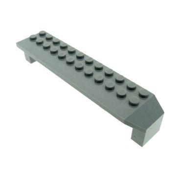 1 x Lego System Stütze alt-hell grau 2x14x2 Säule Pfeiler Träger Brücke Bogen Radkasten 30296