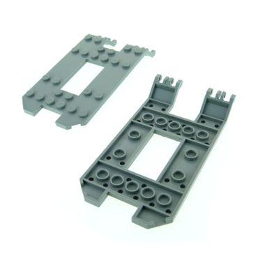 2 x Lego System Laderampe alt-hell grau 6x12x1 1/33 Chassis Unterbau Fahrgestell Trailer Grund Platte Trailer Base 30263