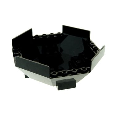 1 x Lego brick black Cockpit 10 x 10 x 4 Octagonal with Axle Hole Set 8970 6037 4550191 2618