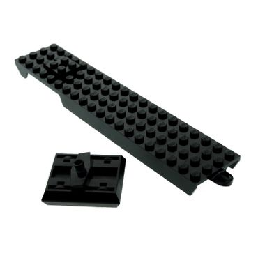 1 x Lego brick Black Monorail Base 4 x 20 with Black Monorail Bogey with Bogey Bracket / Pivot 2686c01 2687