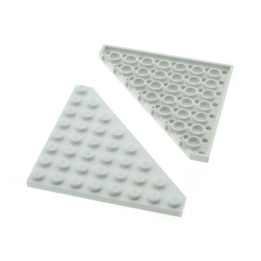 2 x Lego System Flügel Bau Dreieck Platte weiss  8 x 8 Ecke 8x8 für Set Star Wars 75098 70736 41062 7893 10019 7470 5892 10231 30504