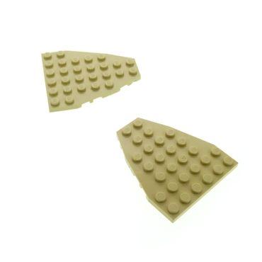 2 x Lego System Keil Flügel Bau Platte beige tan 6x7 Boot Bug Schiff für Set 7416 10124 7018 2625