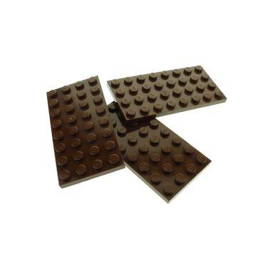 3 x Lego System Bau Platte braun 4x8 Noppen Set Star Wars Harry Potter 10150 4719 3451 7155 4129998 3035