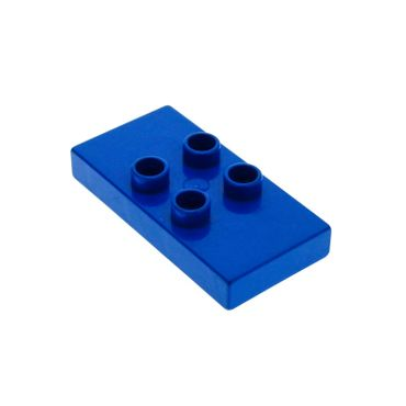 1 x Lego brick blue Duplo Tile, Modified 2 x 4 x 1/2 (Thick) with 4 Center Studs for Set 2762 2979 6413