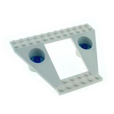 1 x Lego System Keil Bau Platte weiß 12 x 9 x 2 1/3 Flügel mit 2 Sat Schüssel 2x2 transparent blau Space Raumschiff Exploriens 4740 30037