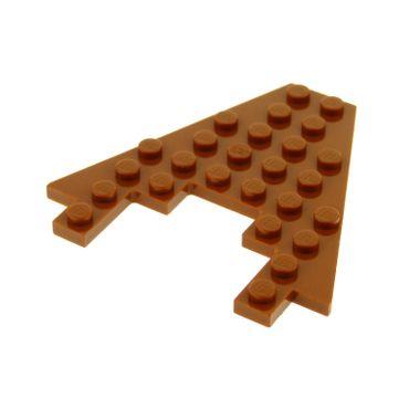 1 x Lego System Keil Flügel Bau Platte dunkel orange braun 8x8 mit 3x4 Ausschnitt Boot Bug Set Star Wars 4478 6104