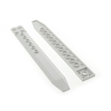 2 x Lego Technic Rotor Blatt weiss 2x16 Platte mit Achs Loch 1 Blatt Flügel für Helicopter für Set 7747 9450 2260 4002015 62743