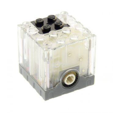 1 x Lego brick Trans-Clear Electric Motor 9V 4 x 4 x 3 1/3 for Set 4895 4094 47154c01