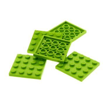 5 x Lego System Bau Platte lime hell grün 4 x 4 4x4 Quadrat für Set 41077 41130 41055 3185 8964 8709 3031
