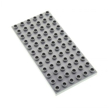 1 x Lego brick Light Bluish Gray Duplo Plate 6 x 12 for Set 10803 10545 10577 10511 5653 4196