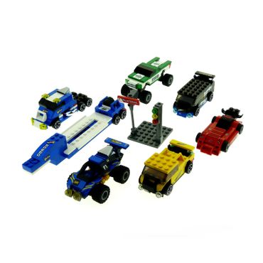 1 x Lego brick 6 x Modell Car for Set  Racers Tiny Turbos 8495 Crosstown Craze ( model incomplete )