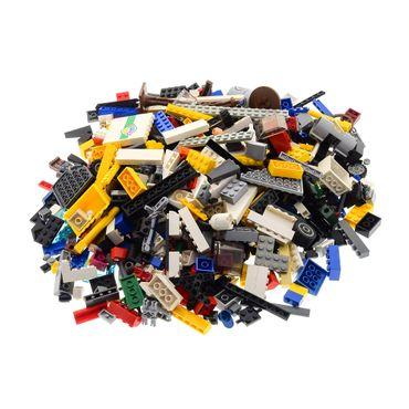 1 Kg Lego System Bau Basic Steine ca. 600 - 700 Teile Kiloware mit Sonderteilen bunt gemischt z.B. Räder Platten Fenster  – Bild 1