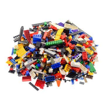 1 Kg Lego System Bau Basic Steine ca. 600 - 700 Teile Kiloware mit Sonderteilen bunt gemischt z.B. Räder Platten Fenster  – Bild 2
