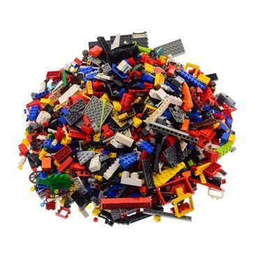 2 Kg Lego System Bau Steine ca. 1500 Teile Kiloware bunt gemischt mit Sonderteilen z.B. Fenster Platten Tiere Räder – Bild 3