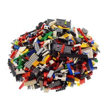2 Kg Lego System Bau Steine ca. 1500 Teile Kiloware bunt gemischt mit Sonderteilen z.B. Fenster Platten Tiere Räder – Bild 4