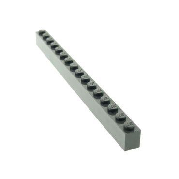 1 x Lego brick dark gray Brick 1 x 16 for Set Harry Potter Rock Raiders 4729 4706 6919 4990 1381 2465