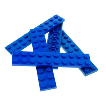 5 x Lego System Leiste Basic Bau Platte 2x10 Stein blau 2 x 10 für Set Star Wars 7317 5955 7775 10227 4207 75042 8426 6931 7664 71006 3832