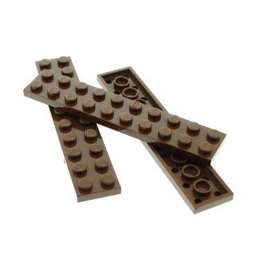 3 x Lego System Leiste Basic 2x10 Bau Platte Stein braun 2 x 10 für Set Star Wars 10124 7417 7184 4595 3832