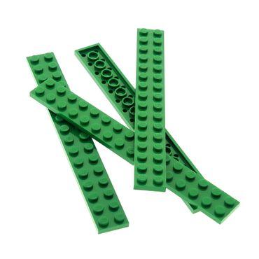 4 x Lego System Leiste Basic Bau Platte Stein grün 2x16 Set Star Wars 7124 7133 10039 6074 2162 6073 6060 8632 428228 4282