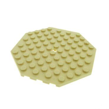 1 x Lego System Bau Platte 10x10 beige tan 10 x 10 Achteck Ecke mit Loch Oktagon für Set 41122 79111 41038 79012 70751 41075 4610669 89523