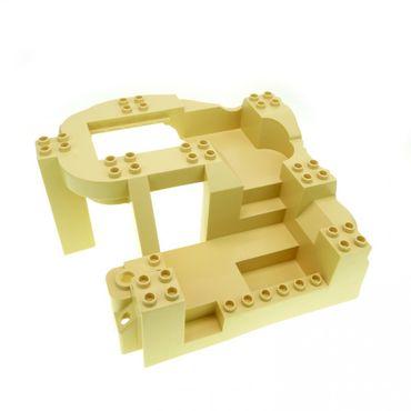 1 x Lego Duplo 3D Bau Platte B-Ware abgenutzt beige tan 14x16x8 großer Felsen Steinbruch Baustelle Zoo 5653 4960 4278578 31384