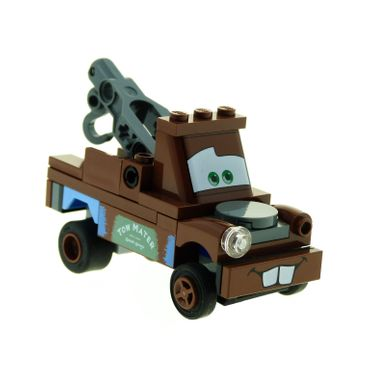 1 x Lego System Modell Cars 8201 Classic Mater Hook braun Tom Mater unvollständig