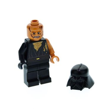 1 x Lego System Figur Star Wars Episode 3 Anakin Skywalker Torso schwarz Battle Damaged Narben Darth Vader Helm für Set 8096 sw283