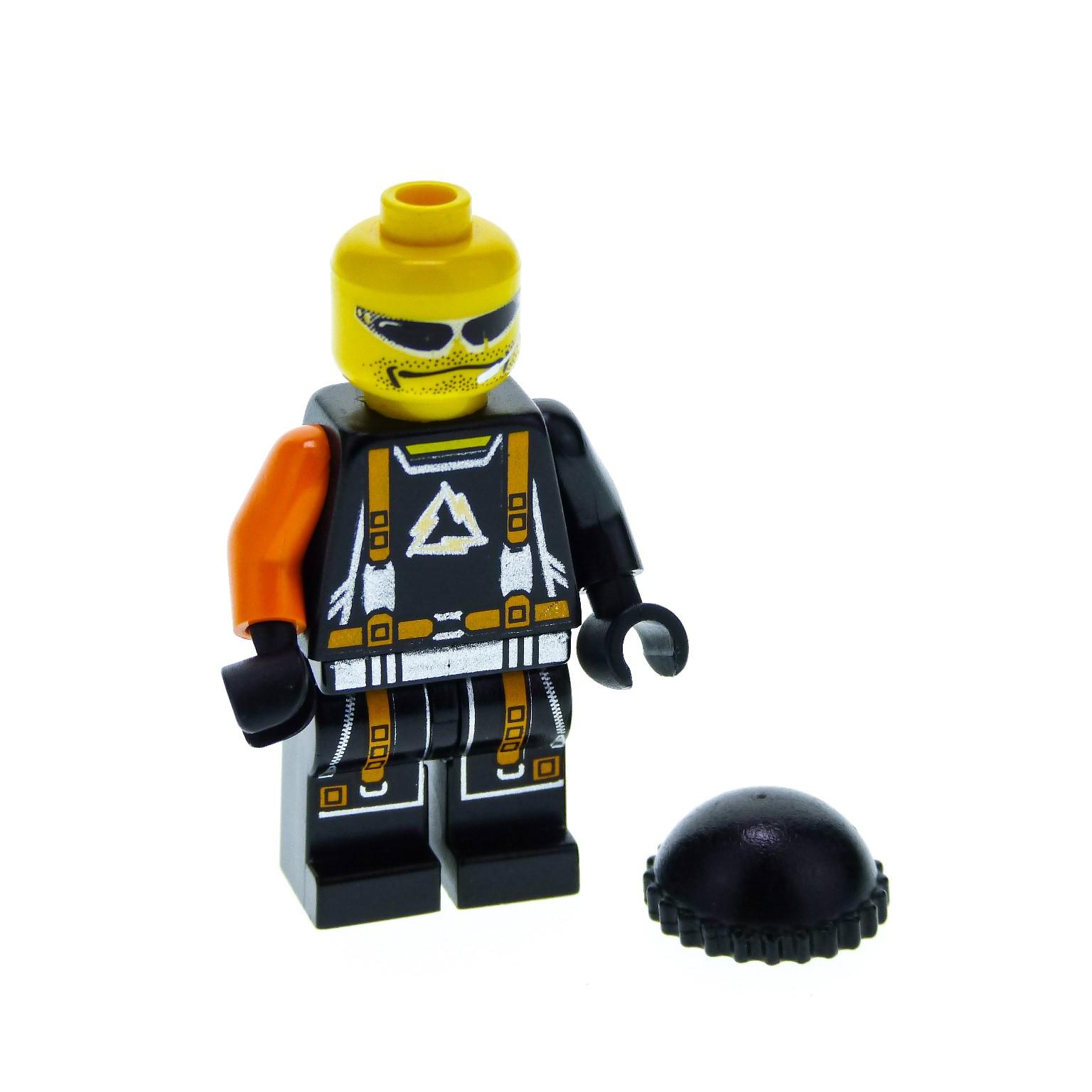 1 x lego system figur alpha team mission deep freeze flex arctic torso schwarz gurt orange. Black Bedroom Furniture Sets. Home Design Ideas