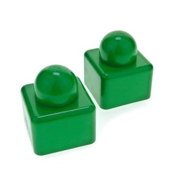 2 x Lego brick green Primo Brick 1 x 1 for Set  9017 2076 31000
