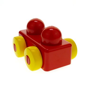 1 x Lego brick Red Primo Vehicle Wagon without Tow Hitches for Set 9010 2086 31008