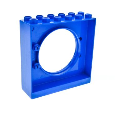 1 x Lego brick blue Duplo Ball Tube Exit with Round Doorway 2 x 6 x 5 31191