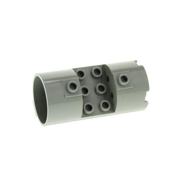1 x Lego brick light gray Cylinder 3 x 6 x 2 2/3 Horizontal 30360