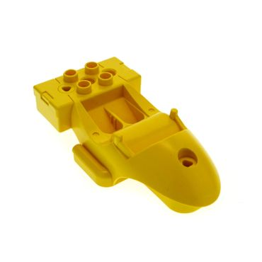 1 x Lego Duplo Toolo Stein gelb Cockpit Kabine Baustein Fahrgestell Chassis Racer Body 31381c01