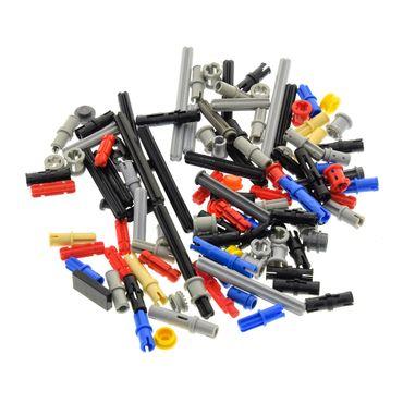 100 Technic Klein Teile ca. 30 g z.B. Pin Stopper Stecker Kreuz Stange Achse Kreuzloch Verbinder kg Technik Steine zufällig gemischt – Bild 2