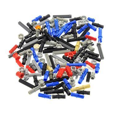 100 Technic Klein Teile ca. 30 g z.B. Pin Stopper Stecker Kreuz Stange Achse Kreuzloch Verbinder kg Technik Steine zufällig gemischt – Bild 4