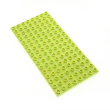 1 x Lego brick Light Lime Duplo Plate 8 x 16 4620801 6490 61310