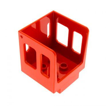 1 x Lego Duplo Aufsatz Zug rot 3x3x3 1/2 Kabine Führerhaus Lok Eisenbahn für Set Schiebelok 10597 10558 6144 92453