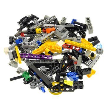 100 Lego Technic Teile 80 g z.B. Pin Stecker Gewinde Kreuz Stange Achse Kreuzloch Verbinder Liftarm Zahnrad Räder kg Technik Steine zufällig gemischt – Bild 2
