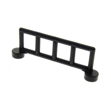 1 x Lego brick black Duplo Fence Railing with 5 Posts 2214