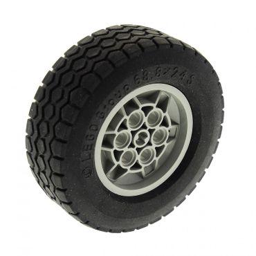 1 x Lego Technic Rad schwarz 68.8 x 24 S Felge alt-hell grau Räder Rad 68.8 x 24 Typ 2 Technik für Set 5563 32003 32004b