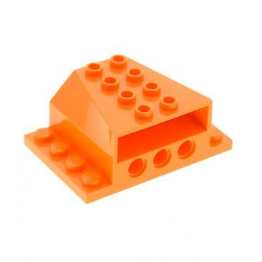 1 x Lego System Motorblock orange 4x6x2 Motorhaube Boot Schiff Auto Fahrzeug mit Technic Löchern 45407