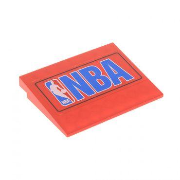 1 x Lego System Dach Stein rot 6 x 8 10° Aufkleber NBA blau Dach Rampe Schräg Fliese Platte für Set 3433 4515*