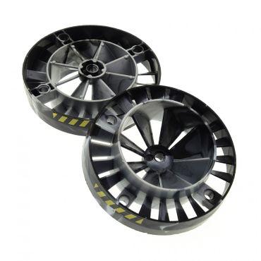 2 x Lego Technic Turbine perl grau schwarz mit Streifen Triebwerk Propeller Lüfter Rad Motor Exo force Düse 7703 53983pb03