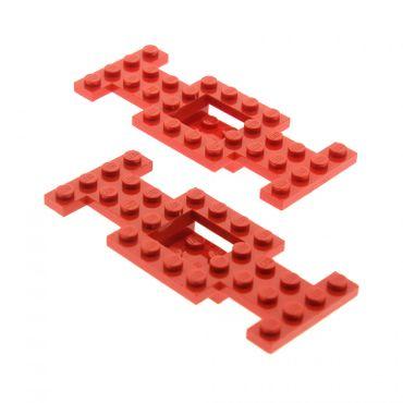 2 x Lego System Fahrgestell rot 4x10x2/3  LKW Unterbau Platte Chassis 4188423 4212b