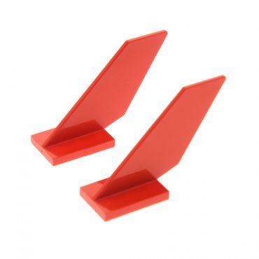 2 x Lego System Flügel rot Heck Flosse Leitwerk 18989 6239
