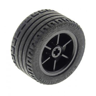 1 x Lego brick black Wheel 30.4mm D. x 20mm with No Pin Holes with Black Tire 43.2 x 22 ZR (54087 44309) 4184286 4284946 54087c01