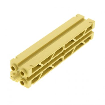 1 x Lego brick tan Support 2 x 2 x 8 with Grooves and Top Peg, Lattice on 2 Sides for Set 1376 30646a