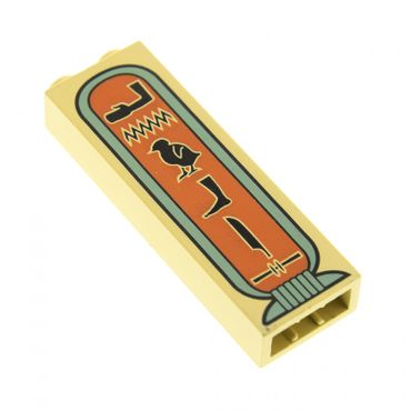 1 x Lego System Stütze beige tan 1x2x5 bedruckt Hieroglyphen 5 Symbole Arm Basic Bau Stein Säule Pfeiler Wand Mauer Set 5958 5988 2996 2454px2