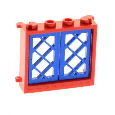 1 x Lego System Fenster Rahmen rot 1x4x3 Haus Gitter Flügel blau Fensterladen 1x2x3 385321 2529 3853