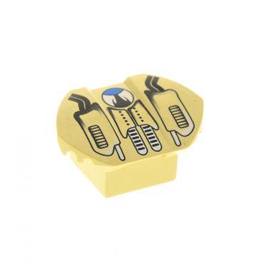 1 x Lego System Fahrzeug Auto Spoiler tan 2x2 Stein bedruckt für Set Racers Xalax Duster 4576 30600pb03